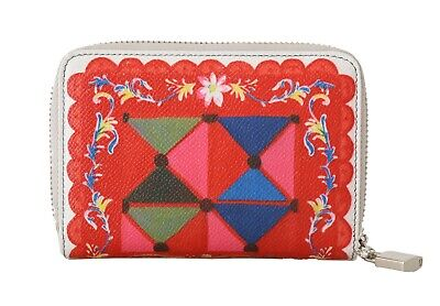NEW $540 DOLCE & GABBANA Wallet Carretto Leather Dauphine Zip Around Continental