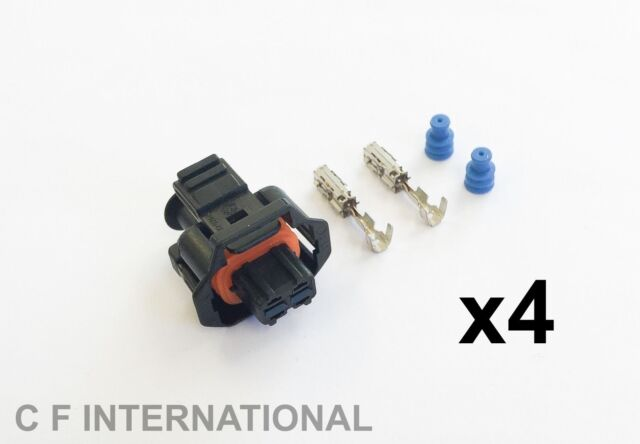 RENAULT - BOSCH COMMON RAIL DIESEL INJECTOR ELECTRICAL CONNECTOR - PACK OF 4