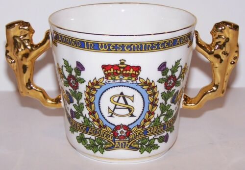 LOVELY PARAGON CHINA ENGLAND 1986 ROYAL WEDDING ANDREW & SARAH LOVING CUP/MUG