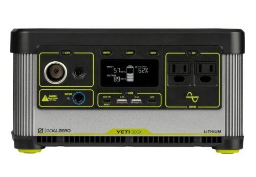 Goal Zero Yeti 500X Lithium Portable Power Station 500Wh Capacity, 300W AC Inver