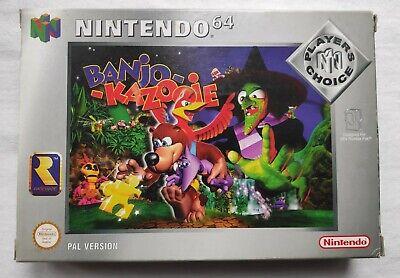 Banjo Kazooie Nintendo 64 N64 PAL Boxed Game With Manual and Box Protector