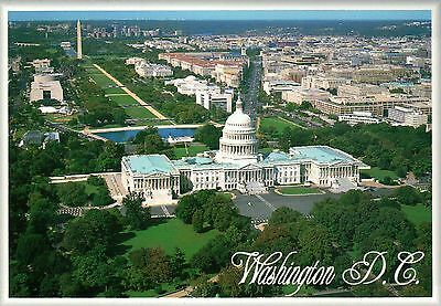 Aerial View The National Mall, Capitol, Lincoln Memorial, Washington DC (Memorial Mall)