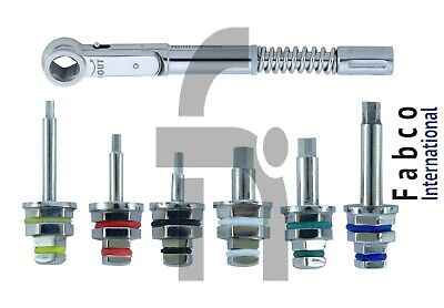 Universal Dental Implant Torque Wrench 10-50 Ncm With Hex Driver 1.25 2.42mm