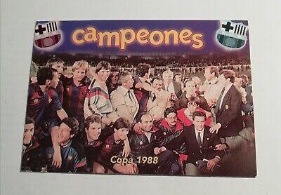 CAMPEONES #63 COPA 1988 ALBUM BARCELONA CENTENARIO CARDS LIGA 99