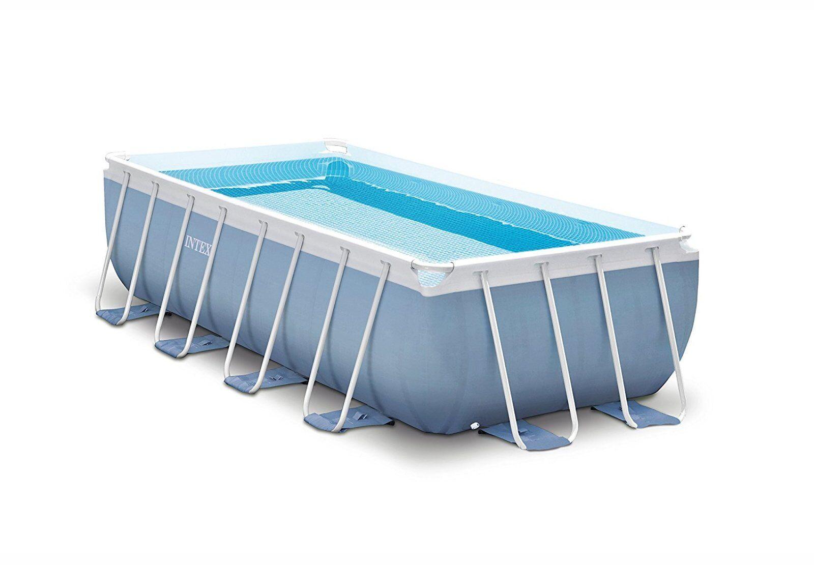 Outdoor Rectangular Frame Swimming Pool Set 16ft X 8ft X 42 Above ...