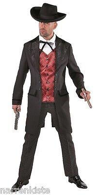 Cowboy Wilder Westen Saloon Lord Kostüm Anzug Herren Kartenspieler -