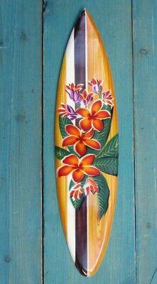Hibiscus Flower tiki Hawaiian style Surfboard Tropical beach home airbrushed
