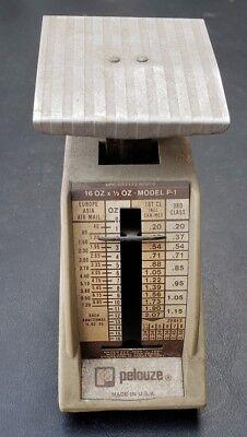 Vintage Pelouze Petite Postal Scale Model P-1 Rates Effective Nov. 1981