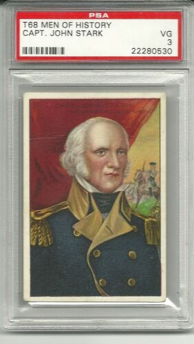 Captain JOHN STARK Men of History T68 PSA 3 Vg Vermont militia leader in 1777
