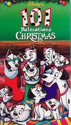 101 Dalmatians Christmas VHS 1998 Disney Animated Holiday Classic EXCELLENT Rare