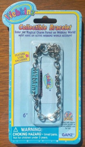 WEBKINZ COLLECTIBLE CHARM BRACELET with UNUSED FEATURE CODE ENCLOSED NIB