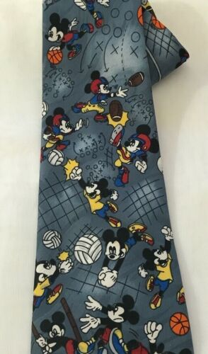 DISNEY Mickey Unlimited mens tie- all sports football, volleyball, track, basket