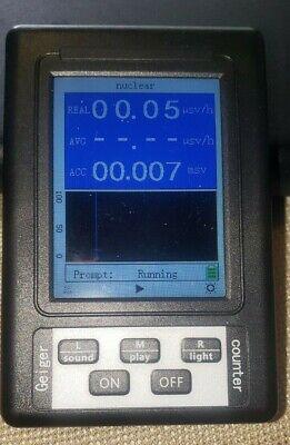 Upgraded Radiation Detector Color Digital Display Geiger Color Free Shipping