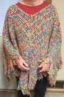 Poncho Multi-Colored Plus Size Sweaters for Women