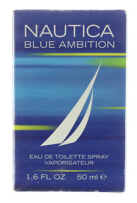 NAUTICA BLUE AMBITION MEN'S COLOGNE - EAU DE TOILETTE 1.6 OZ / 50 ML NEW SEALED
