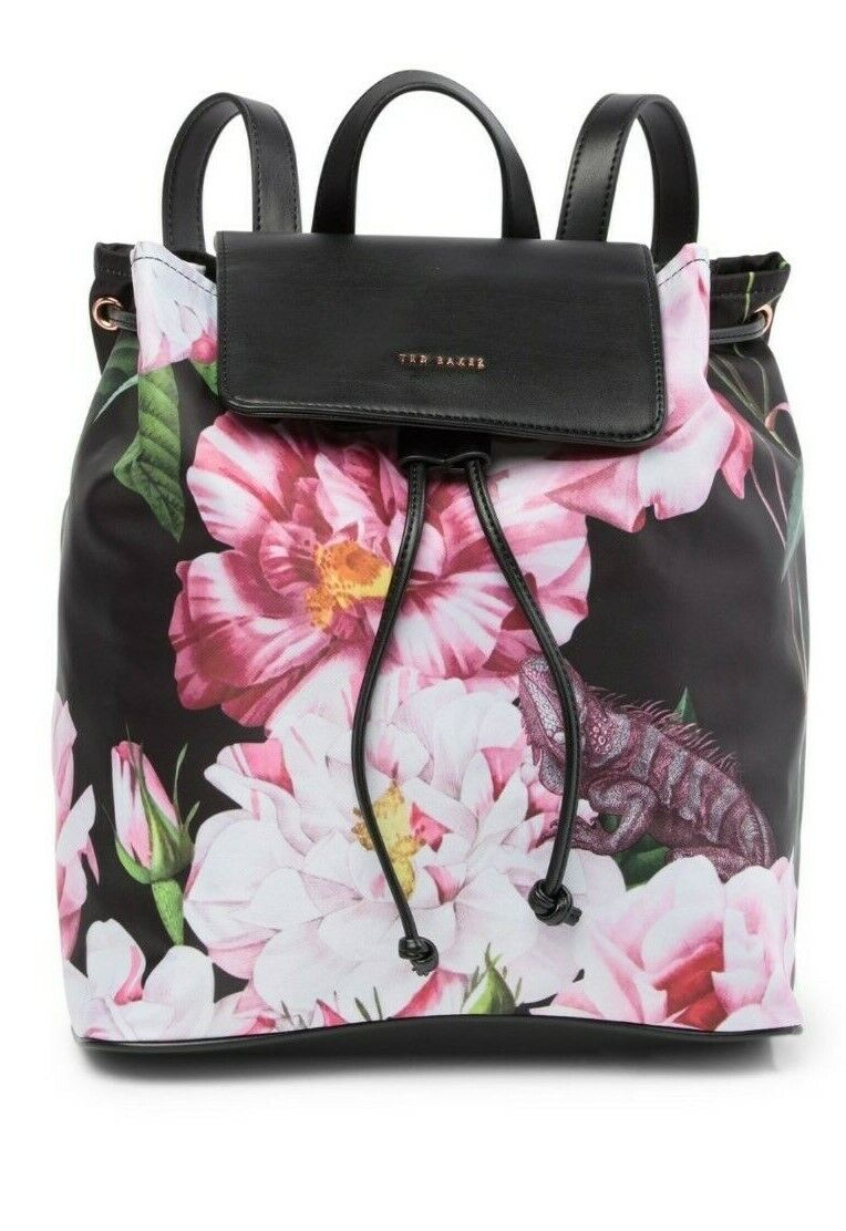 Ted Baker - JULLIE - Iguazu Nylon Drawstring Backpack - Blac