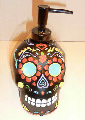 DAY OF THE DEAD/HALLOWEEN BATHROOM KITCHEN SKULL SOAP/LOTION PUMP DISPENSER](Halloween Soap Pump)