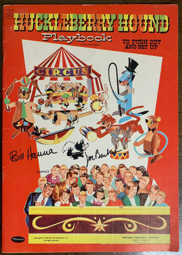 HUCKLEBERRY HOUND PLAYBOOK. Punch Out Book. Unpunched! 1959. SIGNED!