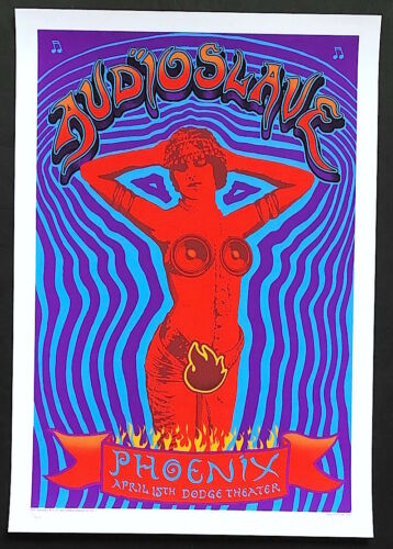 MINT & SIGNED EMEK 2005 Audioslave Phoenix Poster 98/200