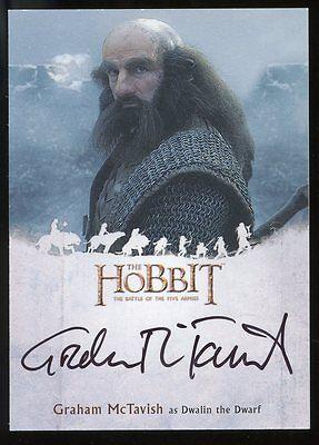 The Hobbit Battle of the Five Armies AUTO Autograph - Graham McTavish as DWALIN