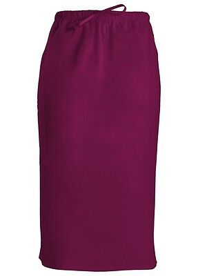 (Cherokee  NWT Scrub Skirt (4509) Wine XS to 5X)