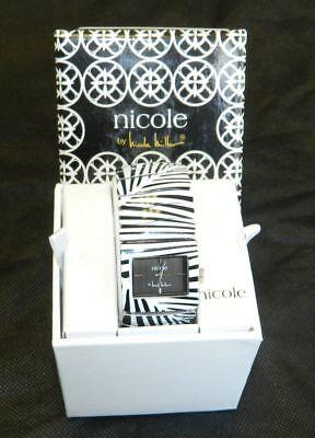 NICOLE by NICOLE MILLER NWT Black/White Striped Stretch Wrist Watch $50