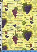 Wine Label Fabric