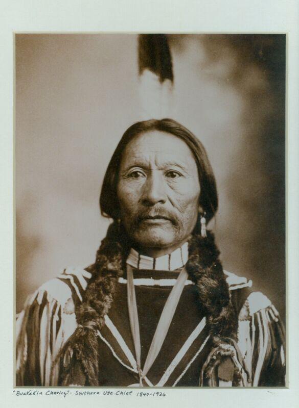 BUCKSKIN CHARLEY-UTE CHIEF-C.A. NAST PHOTO 1899-reprint