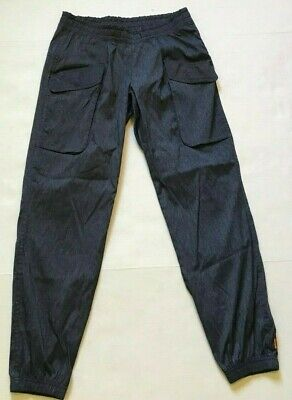 LUCY PANTS JOGGERS POCKETS CARGO CINCH ANKLE ATHLETIC ACTIVE BLUE SIZE S SMALL