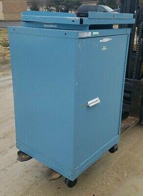 Stanley Vidmar Single Door Cabinet W3x Shelves On Castors 30 X 28 X 44 Tall