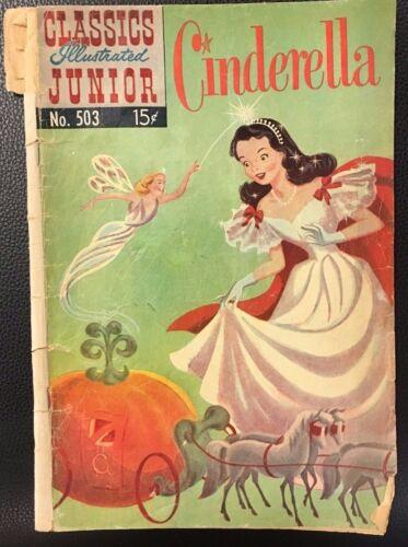 CLASSICS ILLUSTRATED JUNIOR #503 Cinderella (HRN 568) POOR