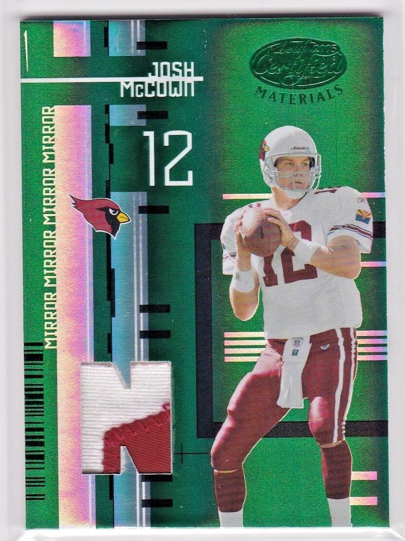 Josh McCown Arizona Cardinals 2005 Certified Mirror Emerald Game Jersey Patch /5