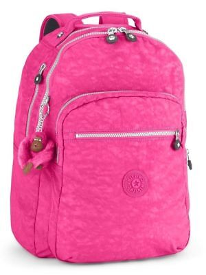 Kipling Seoul Large Backpack Laptop Protection Very Berry Pink travel carry-on