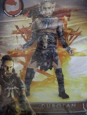 WARCRAFT DUROTAN  HALLOWEEN MUSCLE COSTUME MEDIUM 8-10 - Warcraft Halloween