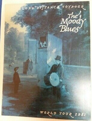 The MOODY BLUES Long Distance Voyager ~ World Tour 1981 Program   Long Distance Plan