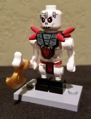 Lego Ninjago Skeleton Army Minifigure Frakjaw From Sets 2257,2521,2263 W /Weapon