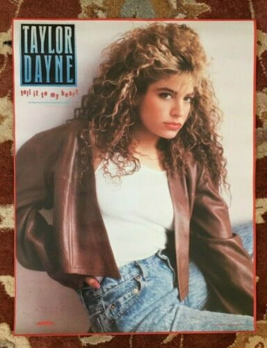 TAYLOR DAYNE  Tell It To My Heart  rare original promotional poster