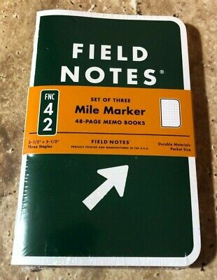 Field Notes 2019 Mile Marker Edition New Sealed 3-pack Memo Book