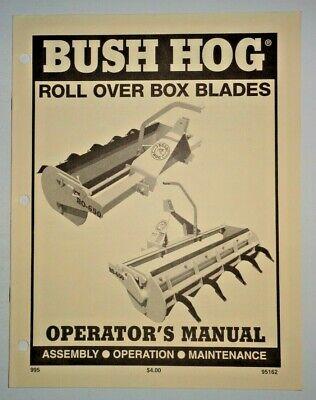 Bush Hog Ro-650 Roll Over Box Blade Operators Maintenance Assembly Manual