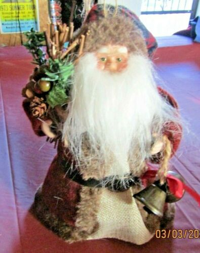 Old Fashion Santa Tree Topper - pre-owned  GUC