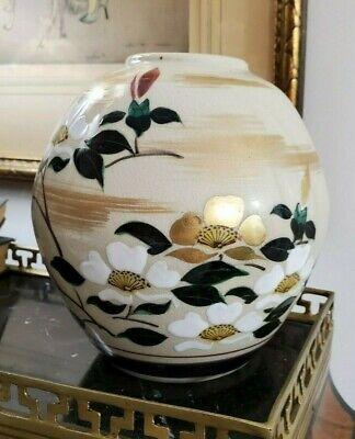 Asian Porcelain Vase Floral Design 6.5