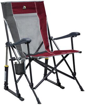 Outdoor RoadTrip Rocker Chair Sturdy Camp Sport Patio Foldable Rocking Seat