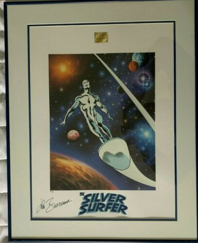 Rare John Buscema Hand Signed Silver Surfer Lithoseriagraph Cel #21/250 Framed