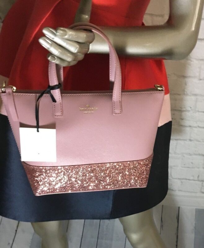 d5203a90c64 NWT Authentic KATE SPADE Small ina Greta Court NEW 10/2018 Glitter ...