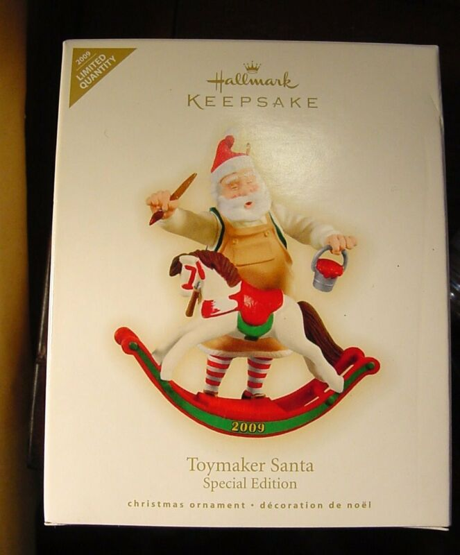 Hallmark Ornament 2009 Toymaker Santa Special Edition