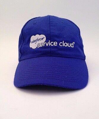 Salesforce Service Cloud Blue Cap Hat One Size Computer Back Up Program Business