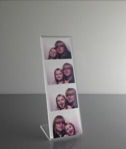 Plastic Photo Booth Frames With Inserts 2x6 Slanted L Photo Strip