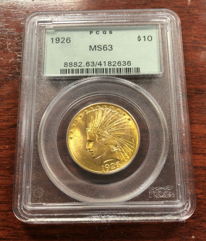 1926 $10 Indian Gold Eagle PCGS MS63 Old Green Holder