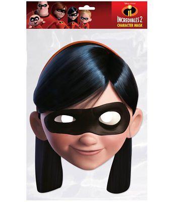 Violett Parr Offiziell Incredibles 2 2D Karten Party Gesichtsmaske - Violett Incredibles Kostüm