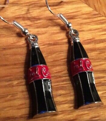 3D Coca Cola Earrings Fashion Jewelry 1 Pair 👻🧲👀 ~Mini~Style~2~Cool~4~School